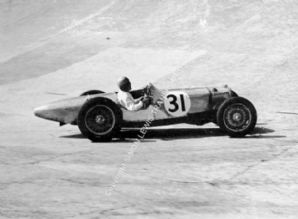 Riley , FW Dixon at speed 1935 Empire Trophy, Brooklands photo